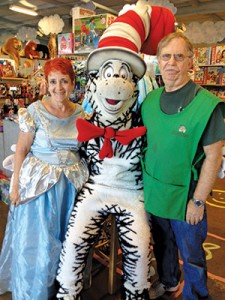 Sari with The Cat in the Hat and Sam.